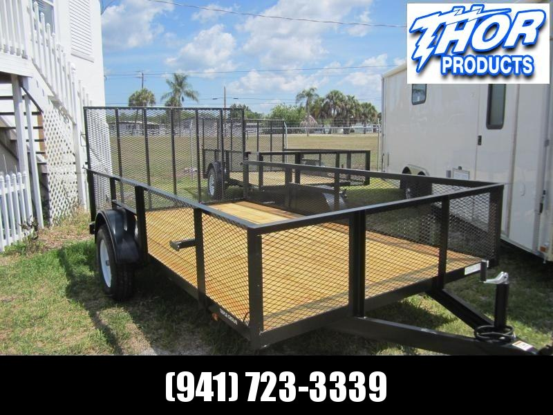 6'4 x 12 SA Utility Trailer w/2' Mesh Sides and Ramp