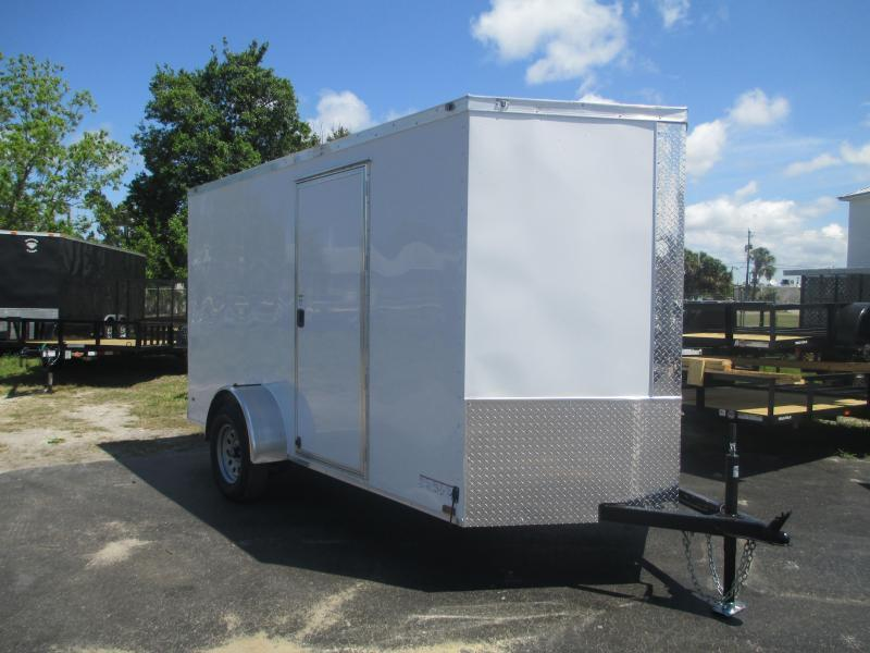 NEW 6 x 12 SA Trailer w/DOUBLE Rear Doors and side door RADIALS