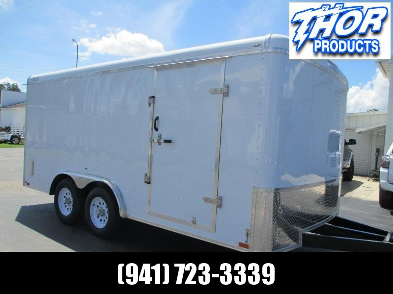 8x16 EXPRESS Commercial Duty Enclosed Trailer LANDSCAPERS DREAM!!