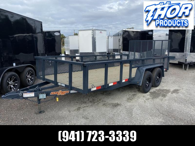 "NEW 6'4"" x 16' TA Utility Trailer Tube top GRAY Black wheels W/RADIAL TIRES 2' MESH SIDES"