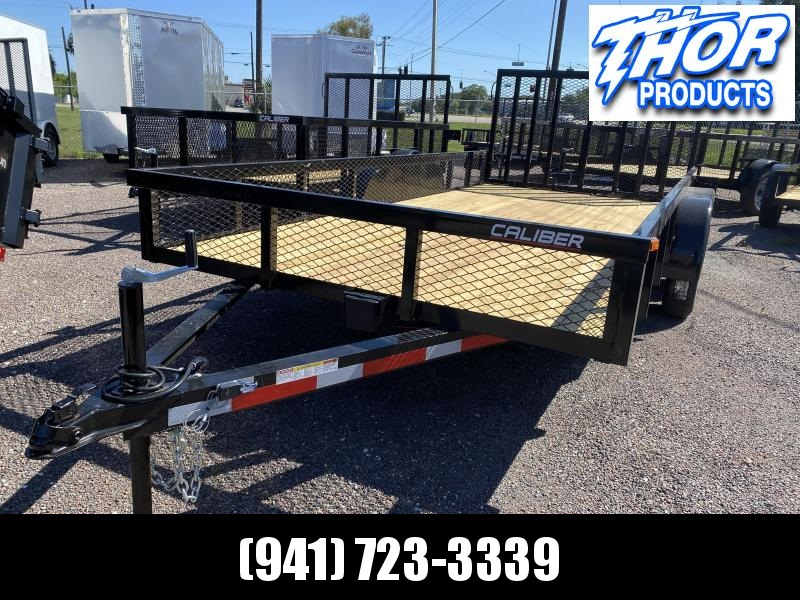 7X16 TA UTILITY TRAILER * 2 BRAKE AXLES * TUBE TOP * LED LIGHTS W/1FT MESH SIDES