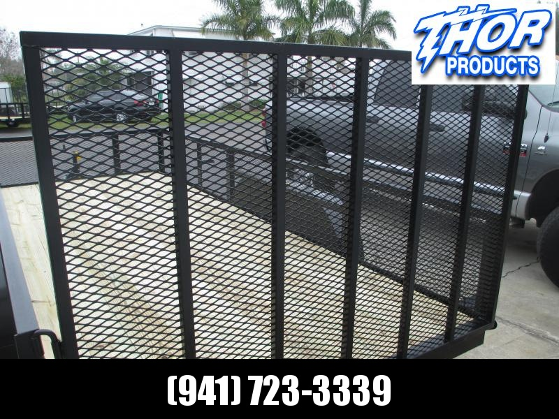 6'4 x 16 TA Utility Trailer w/2' Mesh Sides and Ramp
