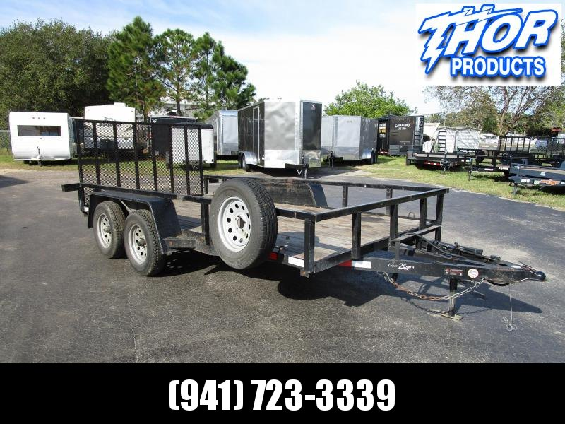 2017 Down 2 Earth Trailers 82 X 14 TA 2 Utility Trailer