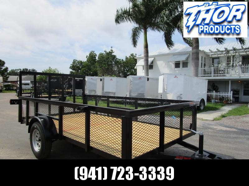 6.5x12 Utility Trailer w/Tube Top * LED lights * Ramp * 2' Mesh Sides