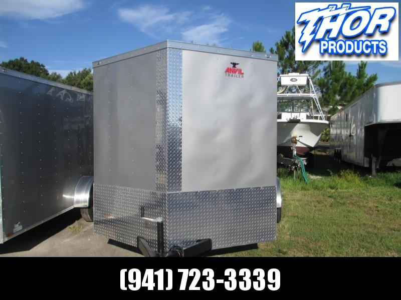 NEW 7X12 TA Enclosed Trailer with a Ramp in SILVER