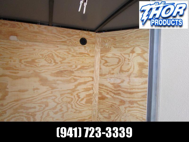 5x8 V-nose Trailer Ramp door and Side Door PEWTER