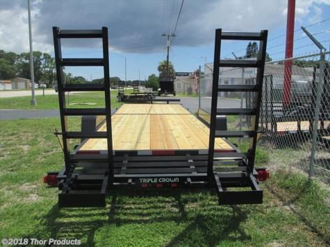 NEW 7 x 24 Equipment Trailer 14K w/Ramps