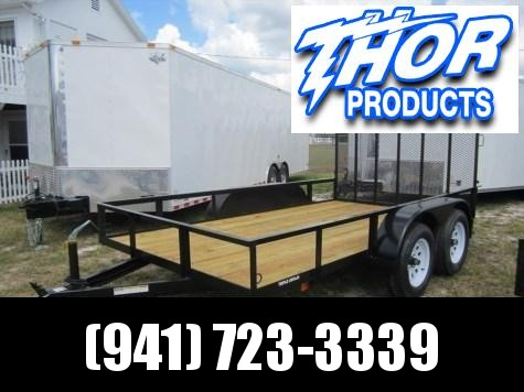 "6'4"" x 14' TA Utility Trailer w/1 axle brake and Ramp"