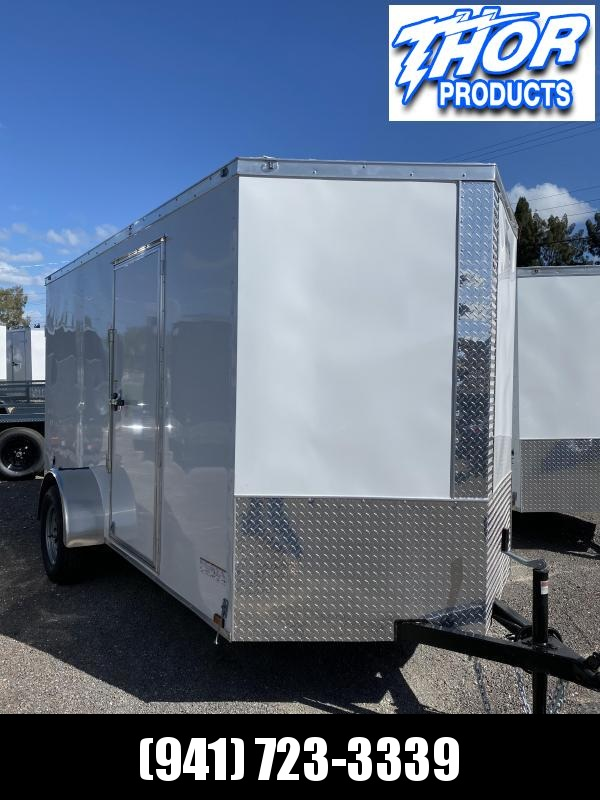 NEW 6 x 12 SA Trailer Double Rear Doors and side door w/flushlock and barlock WHITE