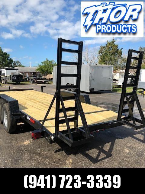 NEW 7x20 14K Equipment Trailer * LEDs * 7K drop leg jack