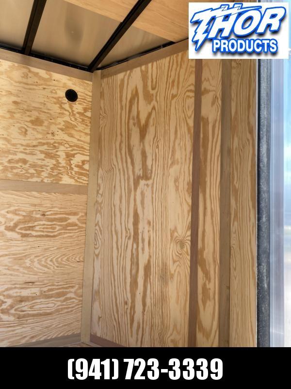 """7X16 TA Trailer V-nose Ramp CHARCOAL GRAY w/7'3"""" Interior Height!  UTV HAULER"""