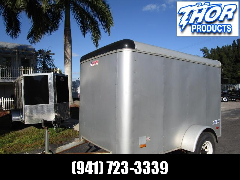 USED 5x8 Trailer with rear swing door