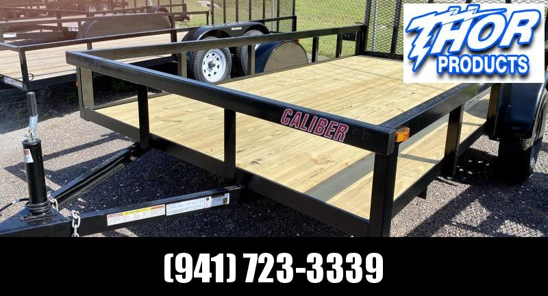 NEW 6.5x12 Utility Trailer w/Tube Top * LED lights * Ramp * Radial tires