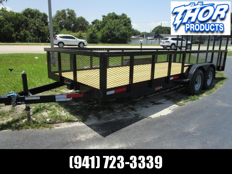 NEW 7X18 10K MAGNUM II Utility Trailer w/2' Mesh sides and Ramp !! HEAVY DUTY!!
