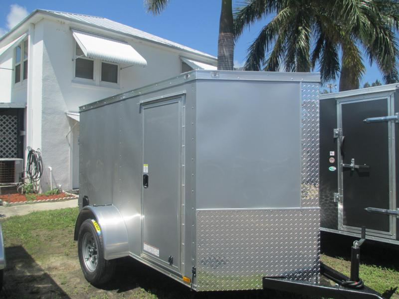 NEW 5 x 10 SA Enclosed Trailer w/side and Double Doors SILVER