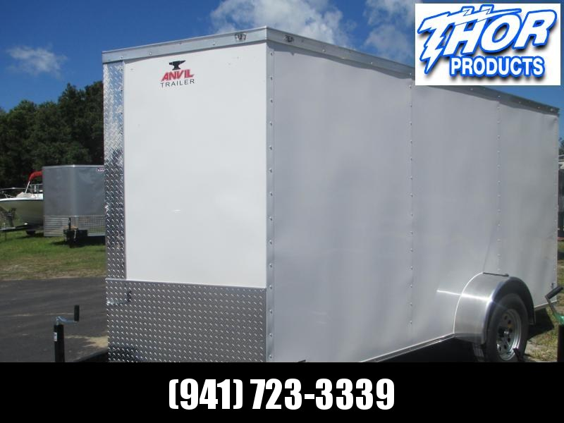 NEW 6 x 10 SA Trailer w/Ramp door Side Door WHITE