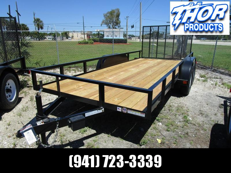 NEW 6'4 x 16 TA Utility Trailer with Ramp 1 axle has brake