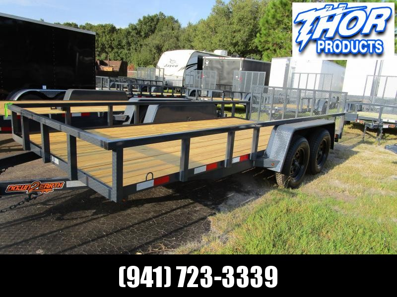 """NEW 6'10"""" x 16' TA Utility Trailer Tube top and Uprights and 2ft dovetail GRAY Black wheels"""