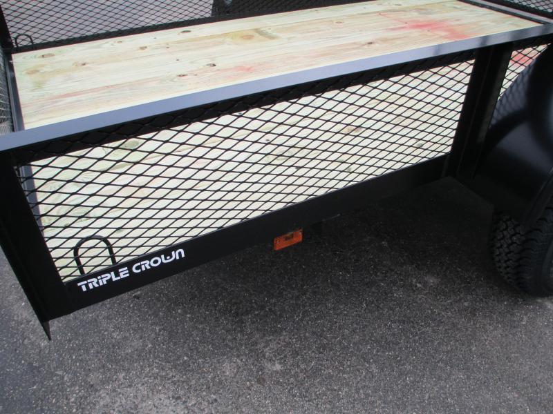 "Triple Crown 5 x 8 SA Utility Trailer w/ramp AND 15"" mesh sides"