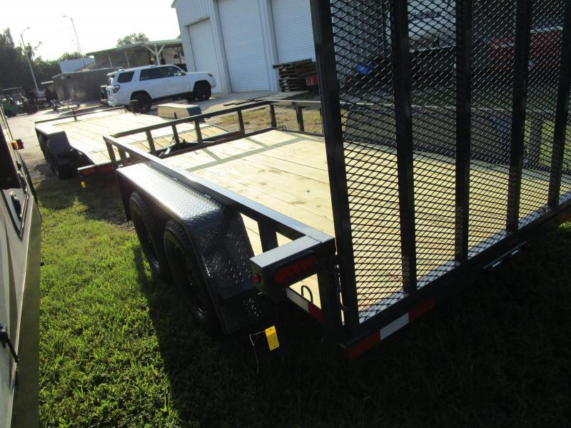 "6'4"" x 12 TA Utility Trailer W/2 axle brakes Ramp Tube Top GRAY LED Lights"