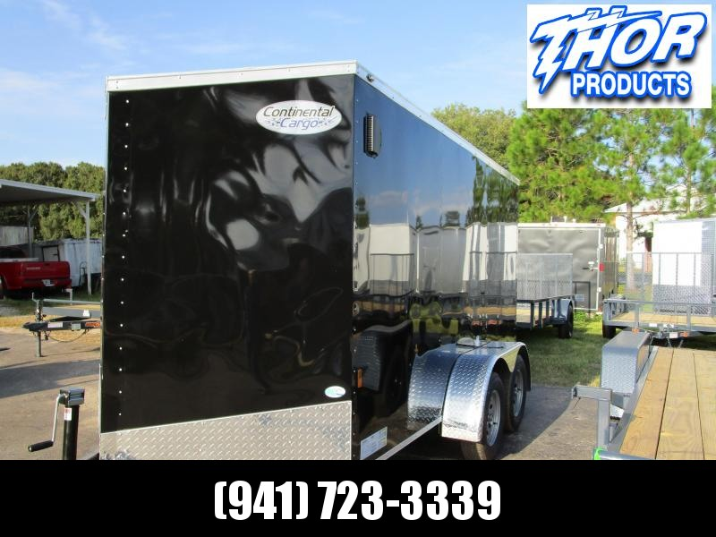NEW 6X12 TA WEDGE NOSE BLACK TRAILER W/SIDE DOOR  AND REAR RAMP