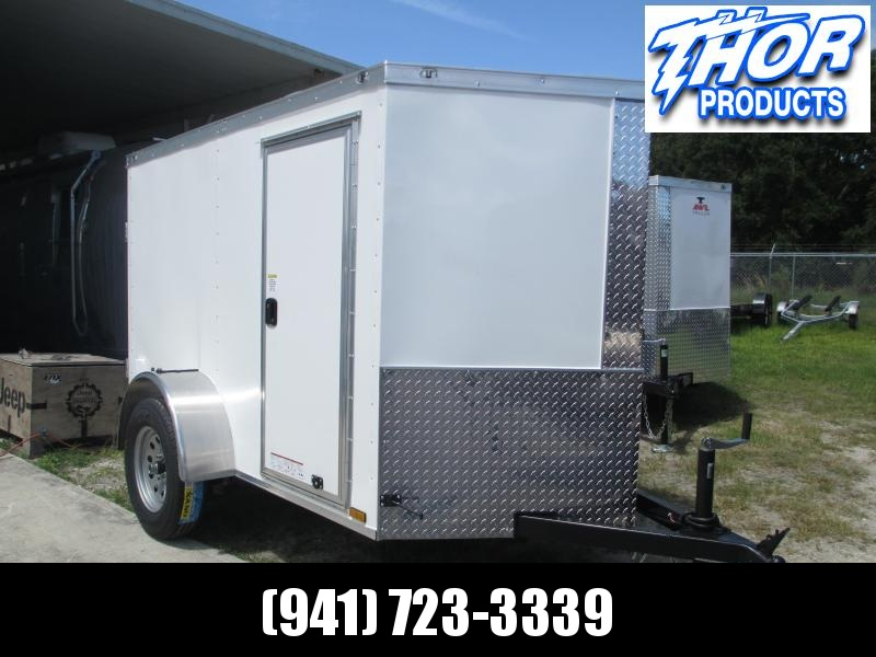 5x8 V-nose Trailer Ramp door and Side Door WHITE Therma cool Ceiling