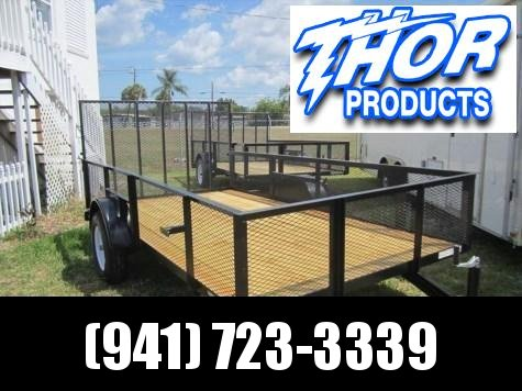 NEW 6.4 x 12 SA Utility Trailer w/2' Mesh sides and ramp