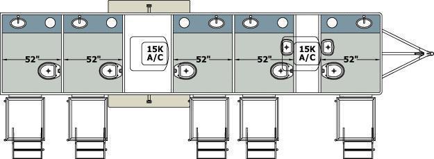 105 FR Narrow Body 5 Stall Restroom Trailer