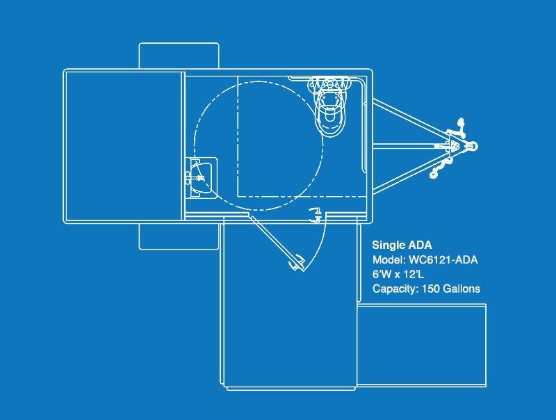 101 WC ADA Single-Stall Restroom Trailer