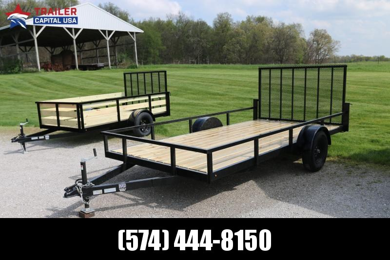 BND 7X14 Open Utility Trailer (All Tube Frame)