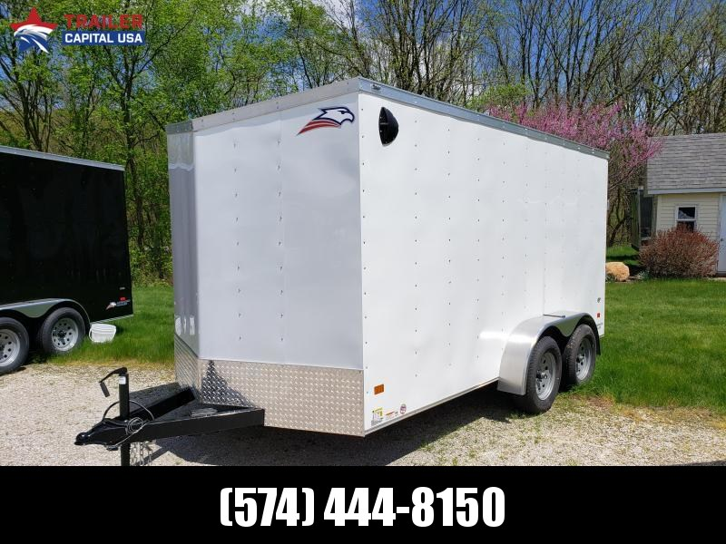 "2020 American Hauler Arrow 7'x14' Deluxe 6'6"" interior Height Enclosed Cargo Trailer"