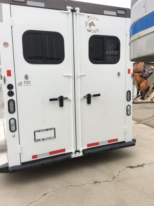 2019 Trails West Aluminum Classic 2 Horse Trailer