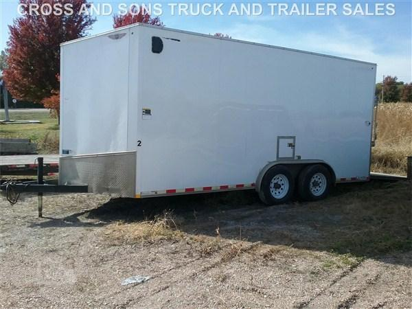 2017 H and H 8 x 16 Enclosed Trailer