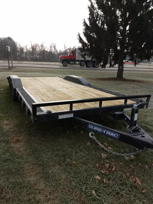 2019 Sure-Trac 102x20 10K Full Width Wood deck Car Trailer