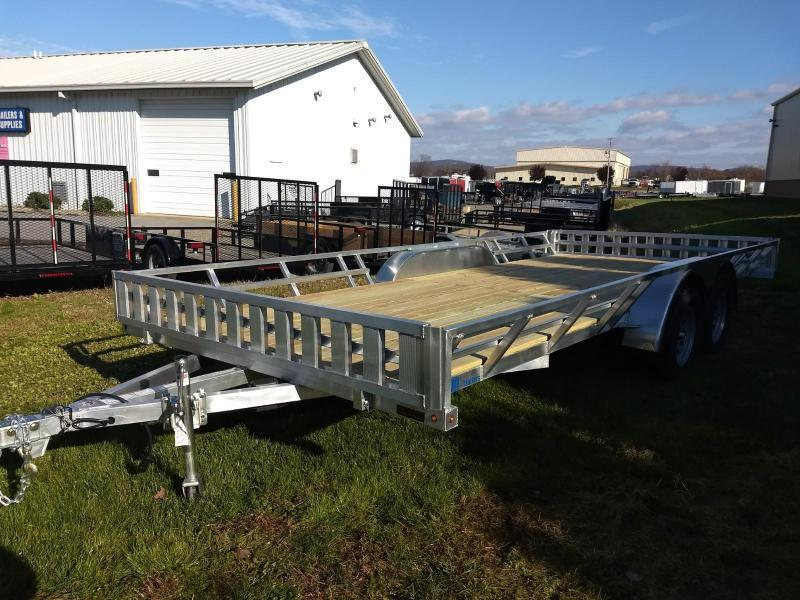 2019 Mission 83x16 Aluminum 4 Place ATV Trailer
