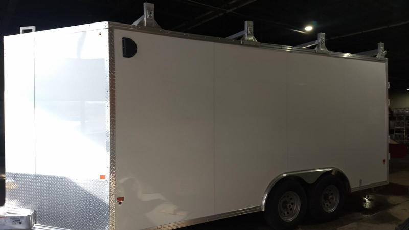 2019 Mission 8x16 10k all aluminum Enclosed Contractor Trailer