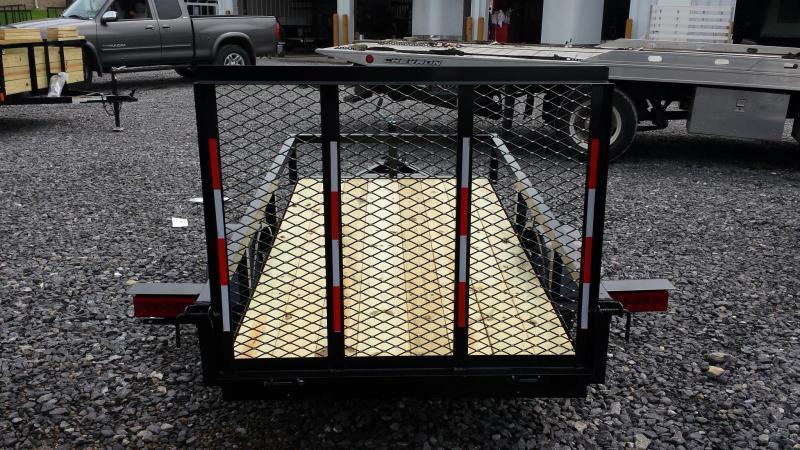 2020 Holmes 4x8 Open Side Rail Utility Trailer