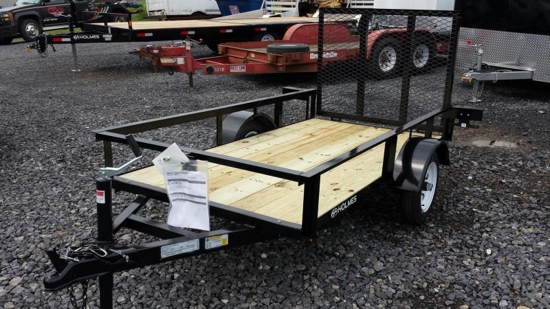 2020 Holmes 4x8 Open Side Rail Utility Trailer