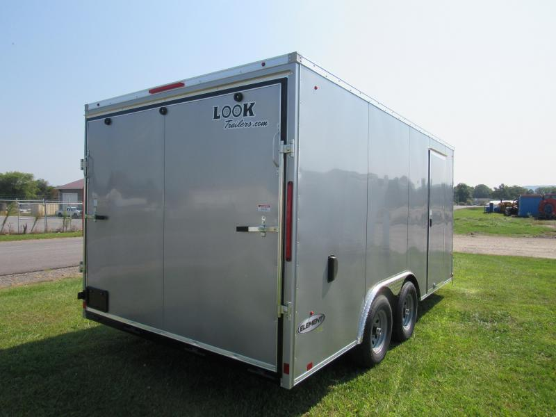 2020 Look Trailers 8.5x16 10k Element Enclosed Cargo Trailer
