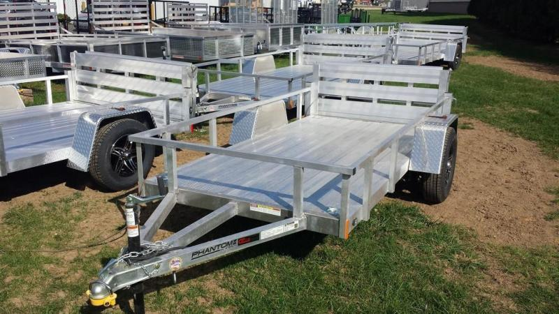 2019 Stealth Trailers 5x10 Alum Open Deck Rail Utility Trailer