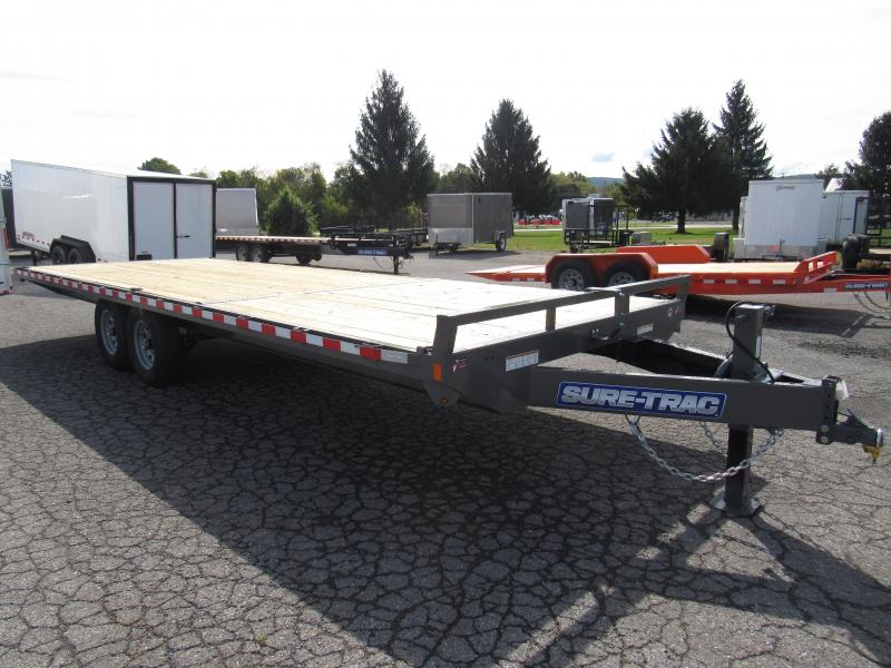 2020 Sure-Trac 8.5x24 15K Deckover Flatbed Trailer