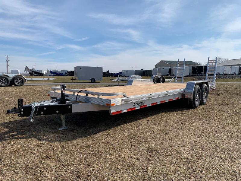 2020 Legend Manufacturing 7x18 (16'Deck/2'Beaver) 10K Equipment Trailer
