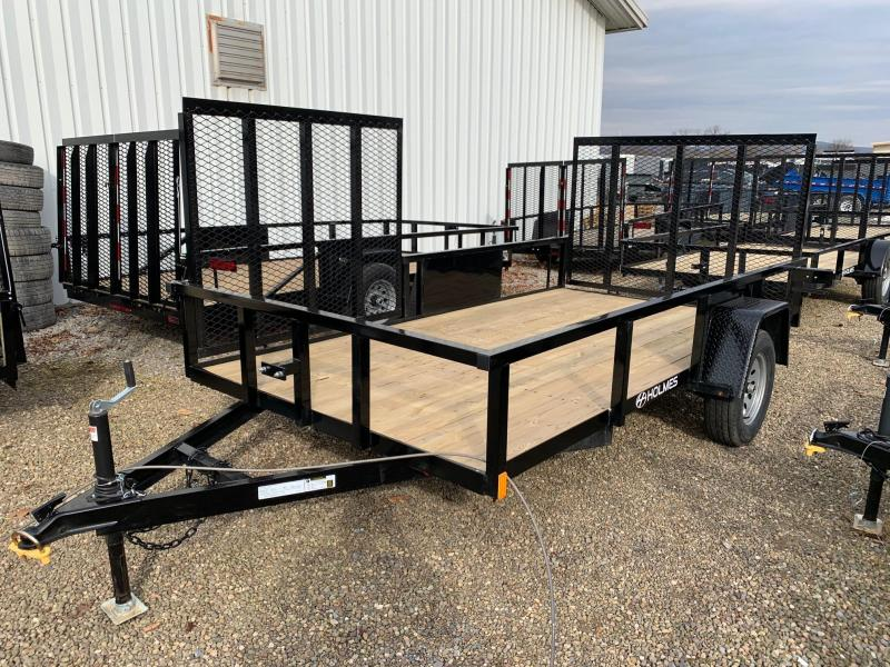 2020 Holmes Commercial 6'4x12 W/Side Gate Utility Trailer