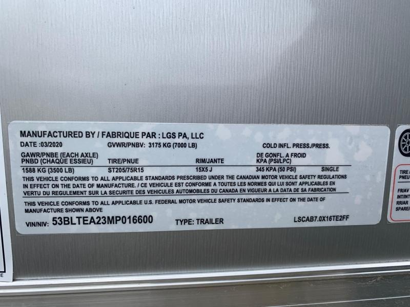 2021 Look Trailers ST-DLX 7x16 7K Enclosed Cargo Trailer