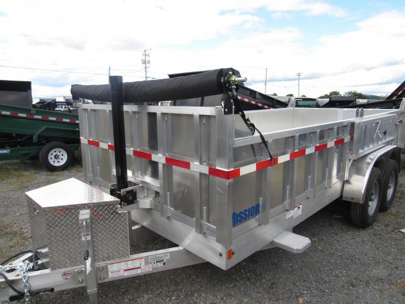 2020 Mission MODP 7x16 Aluminum 12K Dump Trailer