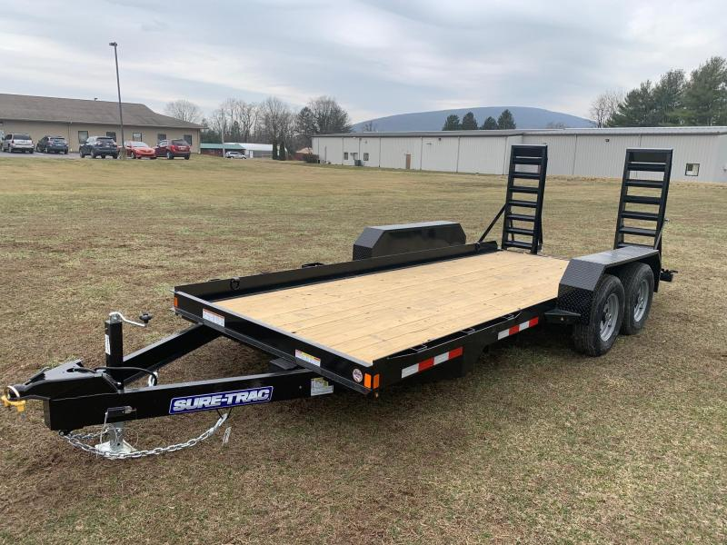 2020 Sure-Trac 7X16 10K Skid Steer Equipment Trailer