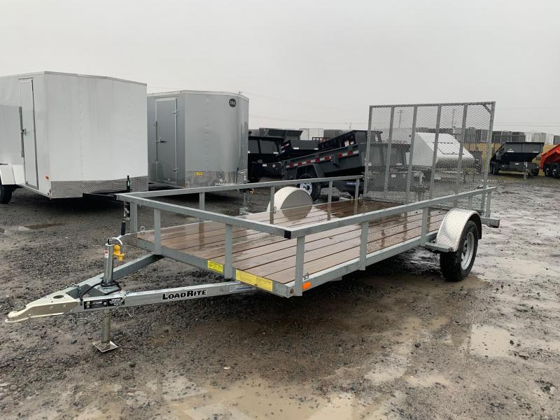 2018 Load Rite 6.5x14 Galvanized Utility Trailer