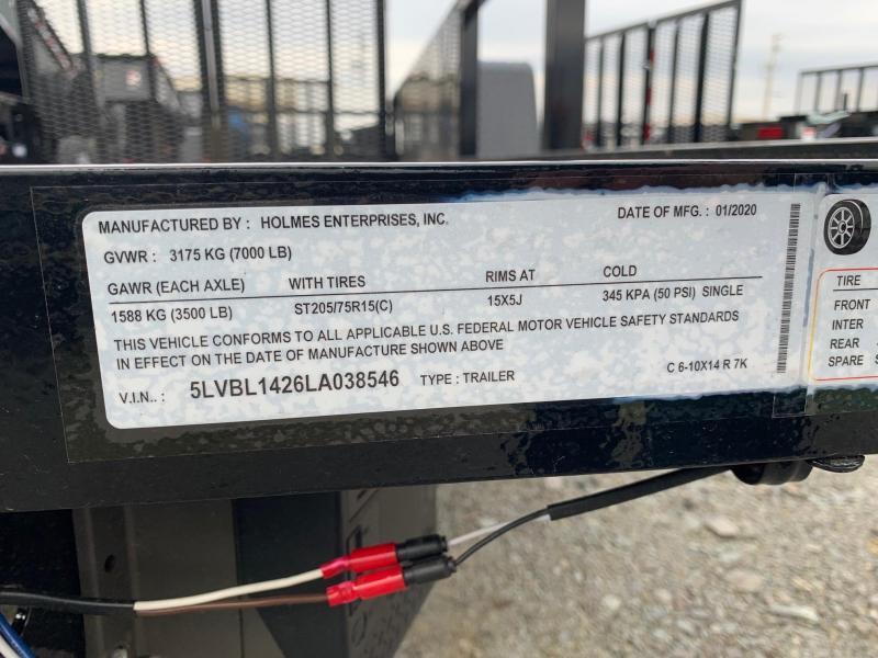 2020 Holmes Commercial 6-4x12 3.5K Mesh Utility Trailer