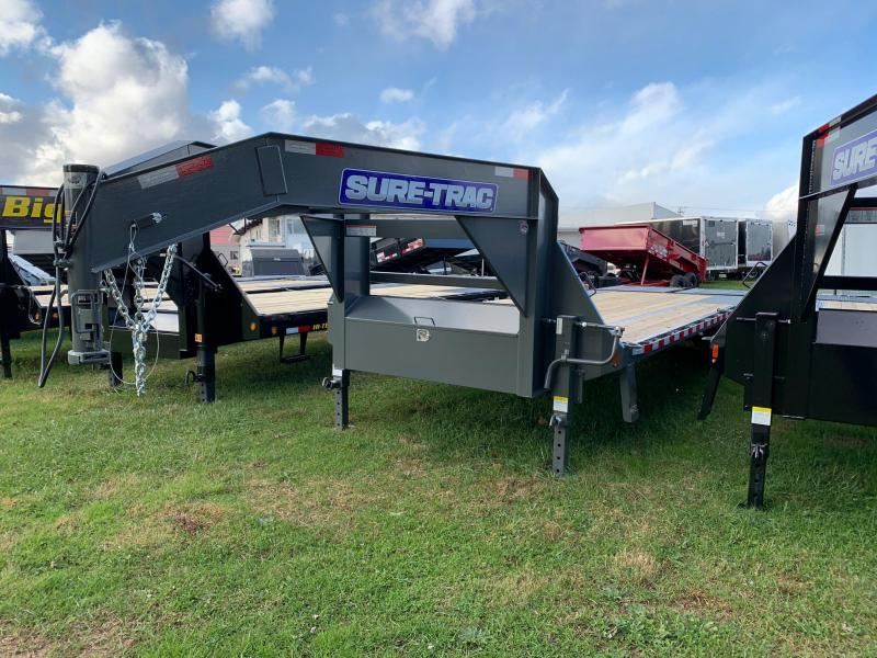 2020 Sure-Trac 8.5x25 15K Gooseneck Flatbed Trailer