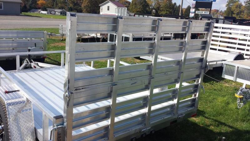 2019 Stealth Trailers 6-5x10 Alum Open Deck Rail Utility Trailer